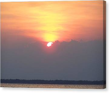 Canvas Print featuring the photograph Sunset And The Storm by Sandi OReilly