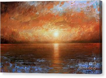 Sunset Canvas Print by Arthur Braginsky