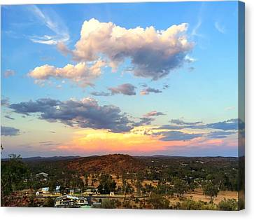 Sunset At Alice Springs #2 Canvas Print