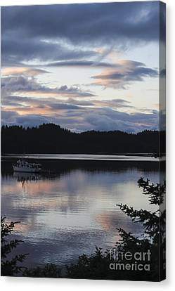 Sunset At Anton Larsen Bay Canvas Print