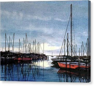 Sunset At Apollo Beach Canvas Print