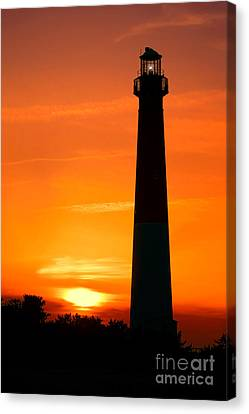 Sunset At Barnegat Lighthouse Canvas Print