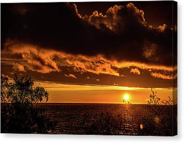 Canvas Print featuring the photograph Sunset At Bay Harbor by Onyonet  Photo Studios
