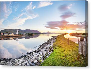Sunset At Blennerville Canvas Print by James Brown