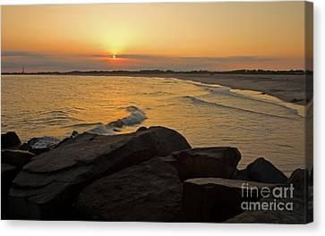 Sunset At Cape May Canvas Print