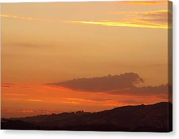 Sunset At Carbon Canyon Canvas Print by Viktor Savchenko