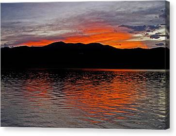 Sunset At Carter Lake Co Canvas Print by James Steele