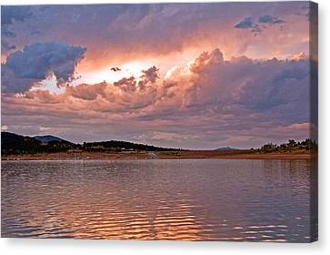 Sunset At Carter Lake Colorado Canvas Print by James Steele