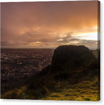 Sunset At Cavehill Canvas Print