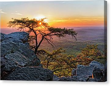 Sunset At Cheaha Overlook 1 Canvas Print