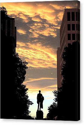 Sunset At Christchurch Canvas Print