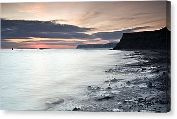 Sunset At Compton Bay Canvas Print by Michael Stretton