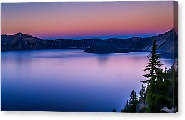 Sunset At Crater Lake Canvas Print by Michele James