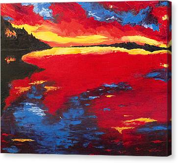 Sunset At Degray Canvas Print by Beth Lenderman