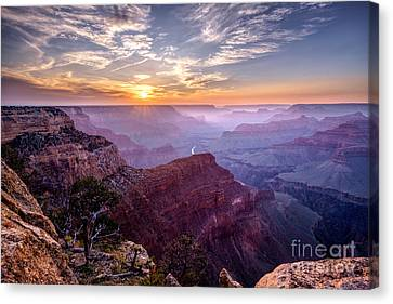 Sunset At Grand Canyon Canvas Print by Daniel Heine
