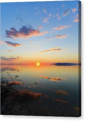 Sunset At Gsl Canvas Print