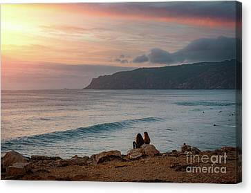 Sunset At Guincho Beach Canvas Print by Carlos Caetano
