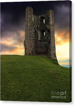 Sunset At Hadleigh Castle Canvas Print