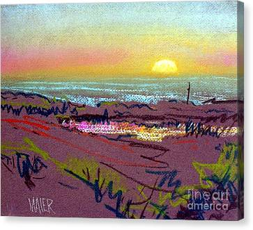 Sunset At Half Moon Bay Canvas Print by Donald Maier