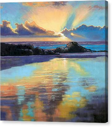 Sunset At Havika Beach Canvas Print by Janet King