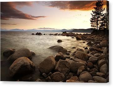 Sunset At Hidden Beach Canvas Print by Eric Foltz