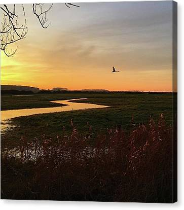 Landscapes Canvas Print - Sunset At Holkham Today  #landscape by John Edwards