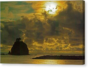 Canvas Print featuring the photograph Sunset At Jones Island by Dale Stillman