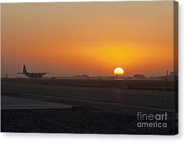 Sunset At Kandahar Canvas Print by Tim Grams