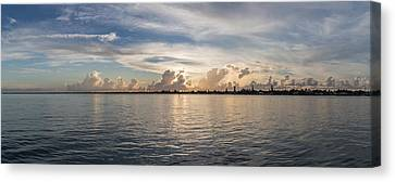 Sunset At Key Largo Canvas Print by Christopher L Thomley