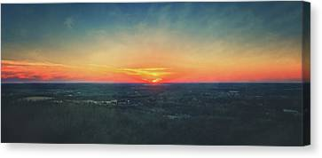 Canvas Print featuring the photograph Sunset At Lapham Peak #3 - Wisconsin by Jennifer Rondinelli Reilly - Fine Art Photography