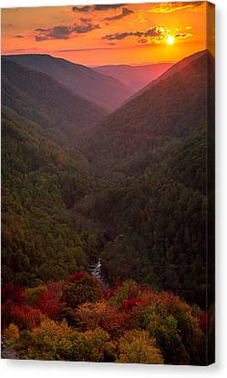 Sunset At Lindy Point Canvas Print by Jackie Novak