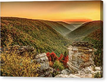Lindy Point Sunset At Blackwater Falls State Park Canvas Print