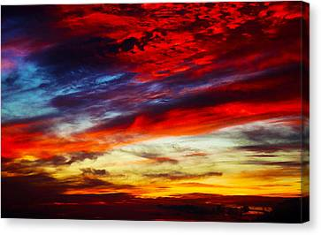 Sunset At Louie's Canvas Print
