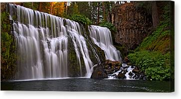 Sunset At Middle Falls Canvas Print