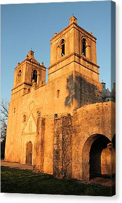 Sunset At Mission Concepcion Canvas Print