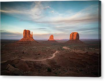 Sunset At Monument Valley Canvas Print