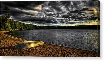 Sunset At Nicks Lake Canvas Print by David Patterson