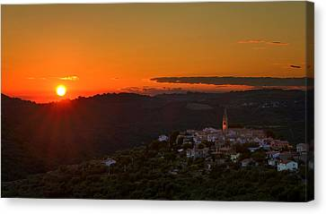 Sunset At Padna Canvas Print