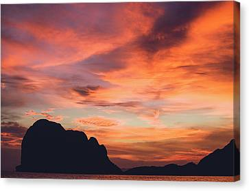 Sunset At Pak Meng Beach Trang Province Thailand Canvas Print