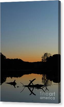 Sunset At Paulinskill Lake Canvas Print by Nicki McManus