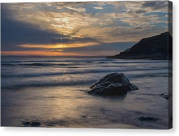 Sunset At Poldhu Cove Canvas Print