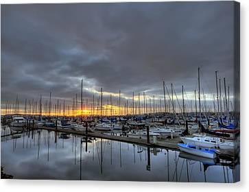 Sunset At Port Gardner Canvas Print
