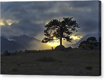 Sunset At Rocky Mountain Park Co Canvas Print by James Steele