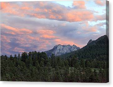 Sunset At Rocky Mountain Park.co Canvas Print by James Steele