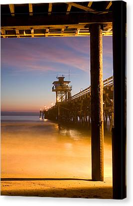 Sunset At San Clemente Canvas Print by Cliff Wassmann
