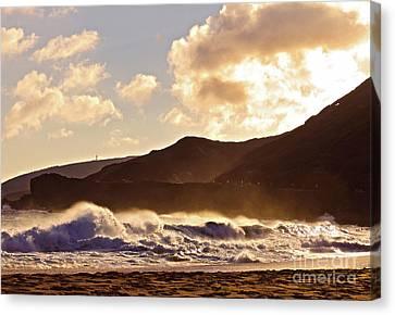 Canvas Print - Sunset At Sandy Beach by Kristine Merc