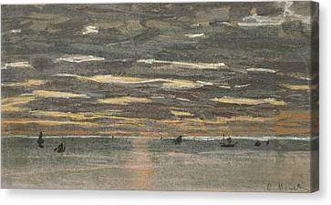 Sunset At Sea Canvas Print by Claude Monet