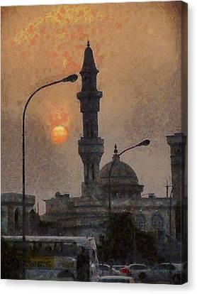 Sunset At Seeb Canvas Print