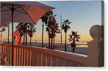 Sunset At Shutters Canvas Print by Mark Barclay