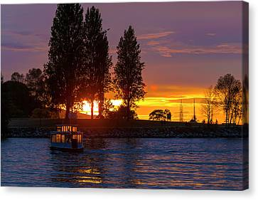 Canvas Print - Sunset At Sunset Beach In Vancouver Bc by David Gn